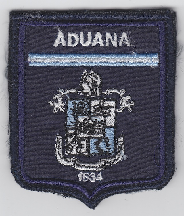 AR 001 Shoulder Patch Aduana current Style