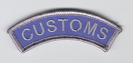 Australian Customs Shoulder Rocker Patch