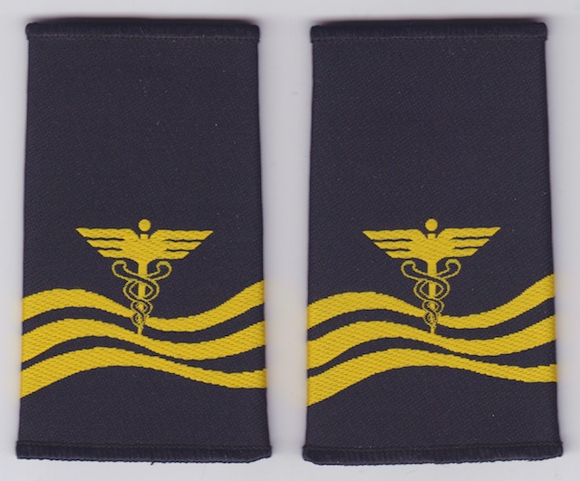 CN 007 Shoulder Loops Rank Insignia Water Customs