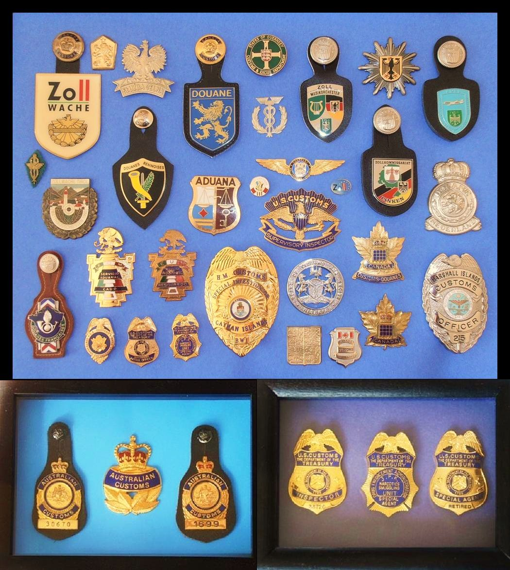 George E. Manosis Customs  Border Badges