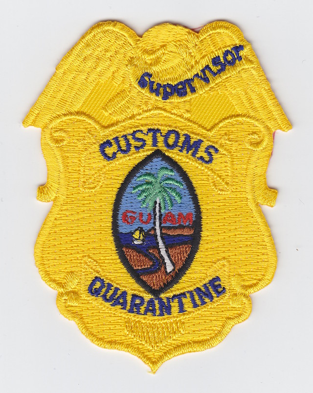 GU 004 Breast Eagle Patch Rank Supervisor