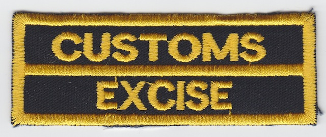 ID_034_Text_Patch_Customs__Excise_Version_Yellow_big_Letters