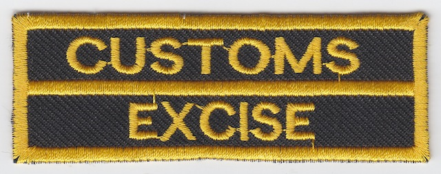 ID_035_Text_Patch_Customs__Excise_-_Type_I_Version_Yellow_small_Letters