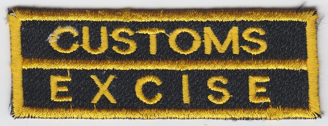 ID_036_Text_Patch_Customs__Excise_-_Type_II_Version_Yellow_small_Letters